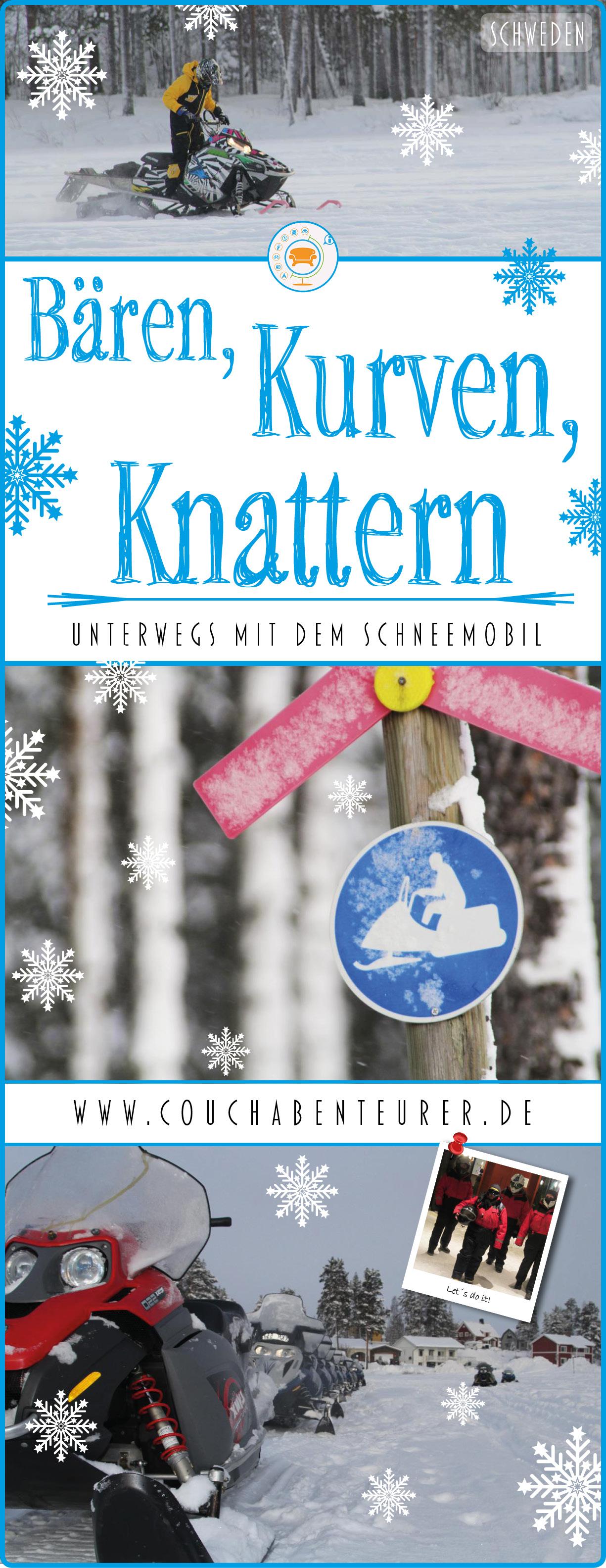 Bären-Kurven-Knattern-unterwegs-Schneemobil-Schweden