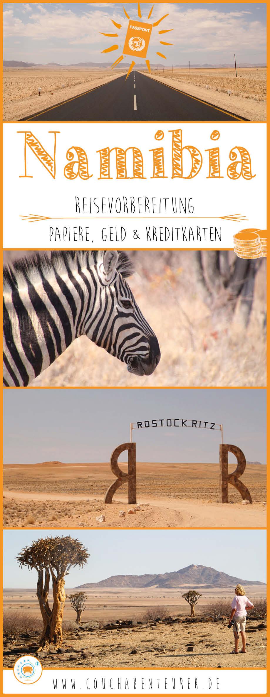 Namibia-Kreditkarte-Geld-Papiere