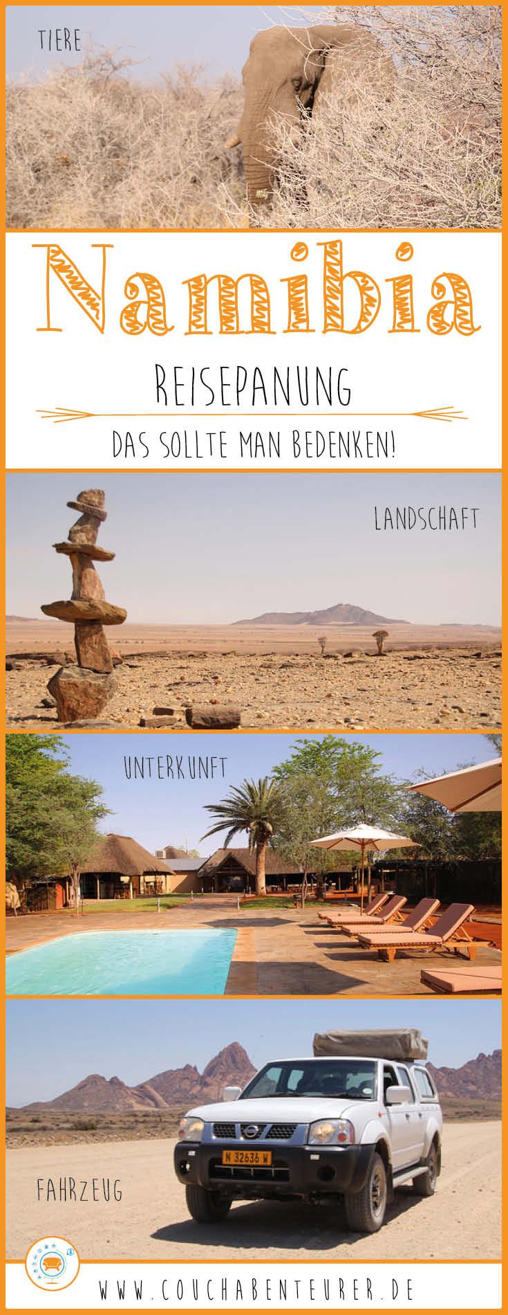 Namibia-Reiseplanung