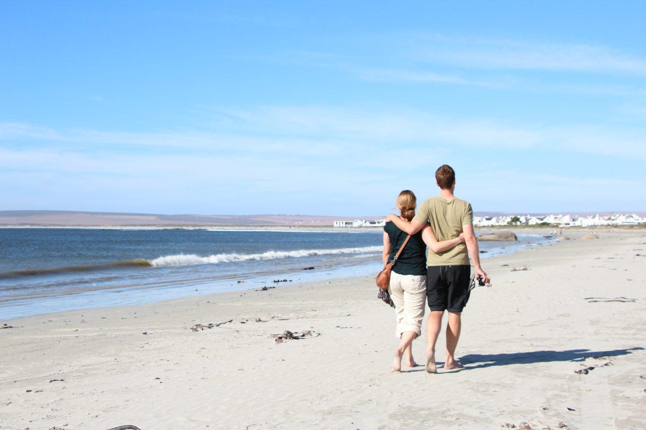 Westküste, West Coast, Südafrika, Paternoster, Strandspaziergang, Couple Spaziergang