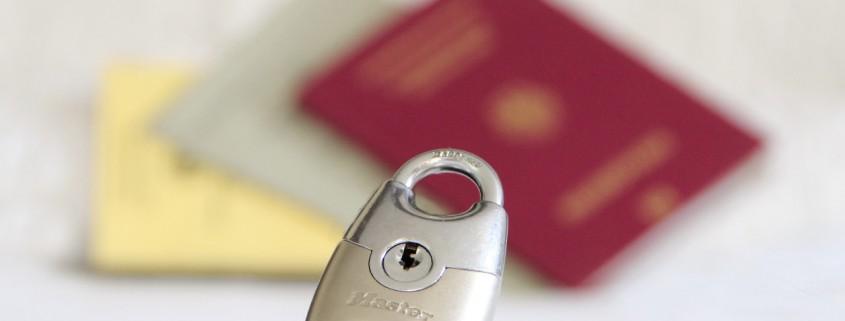 Dokumente, Reisen, Pass, Sicherheit, Schloß