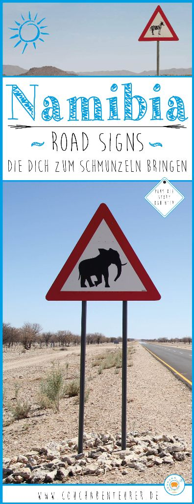 Namibia-Straßenschilder
