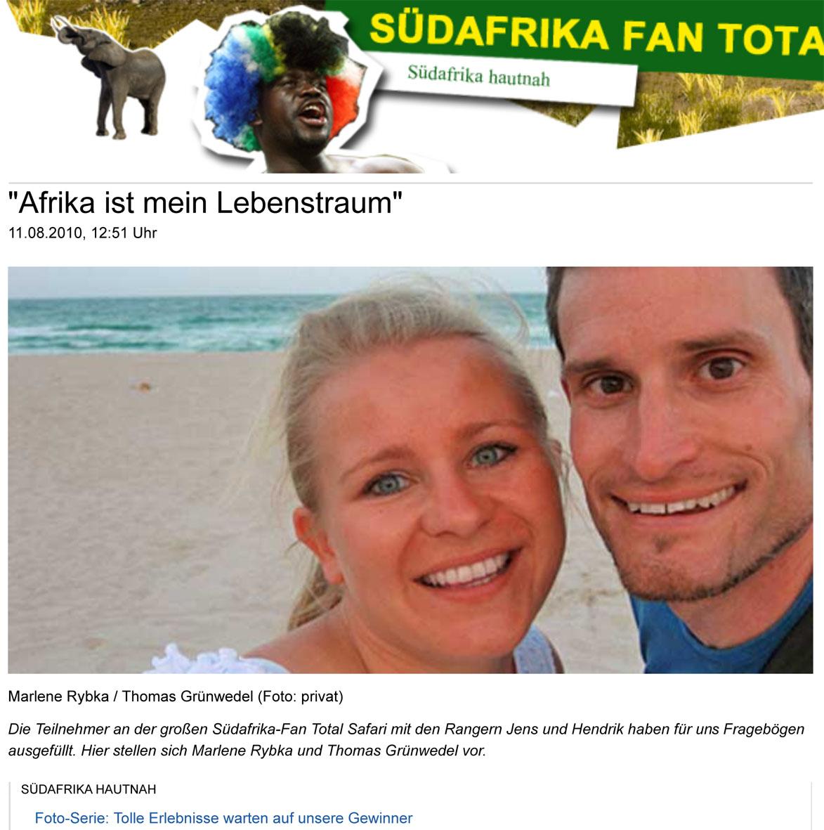 """""""Afrika ist mein Lebenstraum"""""""