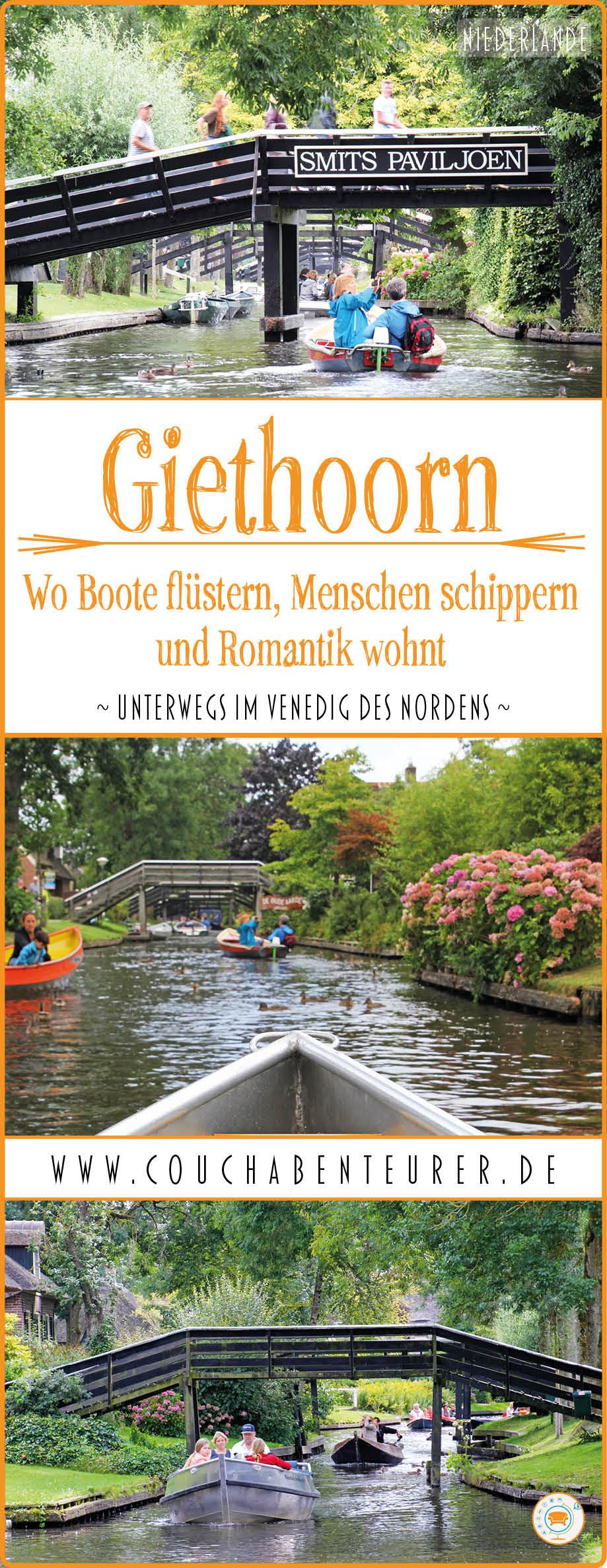 Giethoorn-Boote-fluestern-Menschen-schippern-Romantik-wohnt-Pin