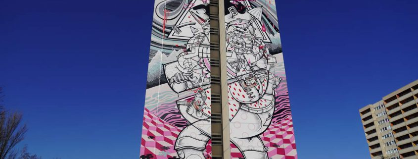 """On tiptoes"" Mural von How & Nosm (Hownosm)"